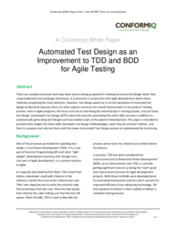 thumbnail of Automated Test Design as an Improvement to TDD and BDD for Agile Testing…